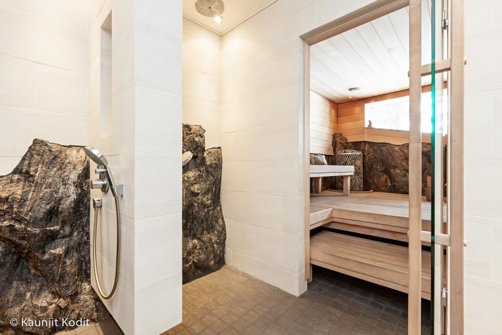 Pesuhuone Sisustussuunnittelu pesutilat pesuhuone kallio remontti vanha rakennus Tampere Pirkanmaa