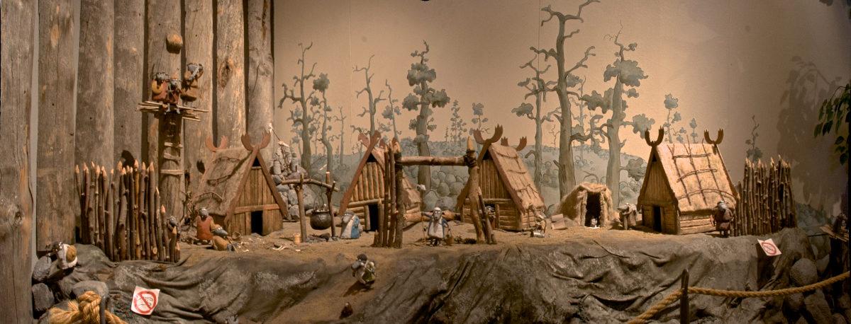 Herra Hakkaraisen talo Pohjolan kylän pienoismalli