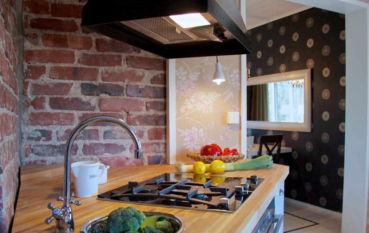 Rintamamiestalon keittiö. Valokuva LC